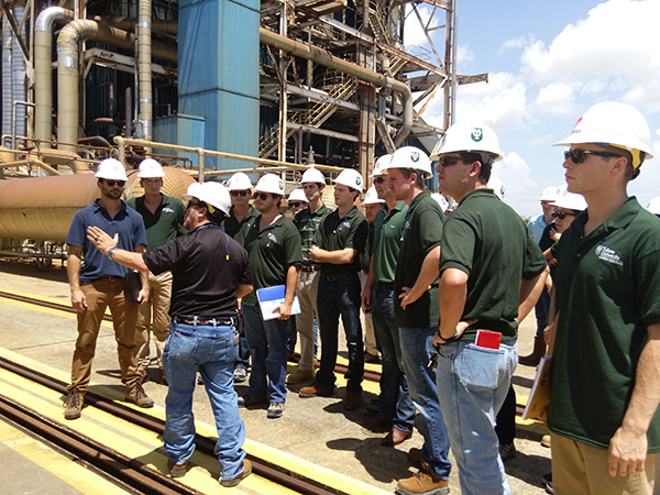 "As part of the program's annual energy ""boot camp,"" Master of Management in Energy students tour Entergy's Ninemile Point power plant in Westwego, La."