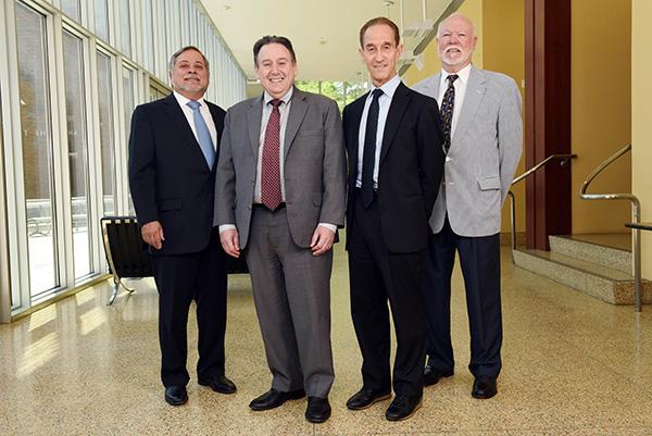 Former Dean Meyer Feldberg visits