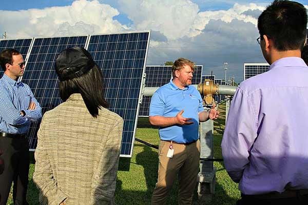 Entergy Solar Farm tour