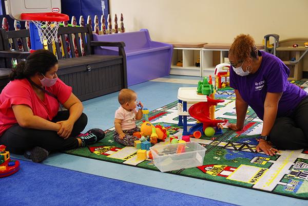 Melanie Richardson, right, co-founder and executive director of childcare education nonprofit TrainingGround