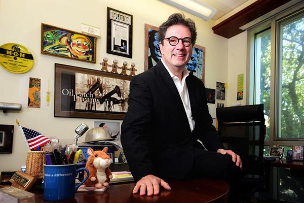 Peter Ricchiuti in his office