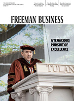 cover of the spring 2021 issue of Freeman Business magazine